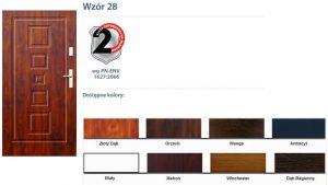 WIKĘD Drzwi zewnętrzne stalowe wzór - 28