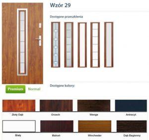 WIKĘD Drzwi zewnętrzne stalowe wzór - 29