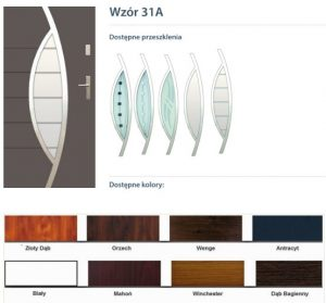 WIKĘD Drzwi zewnętrzne stalowe wzór - 31A