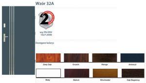 WIKĘD Drzwi zewnętrzne stalowe wzór - 32A