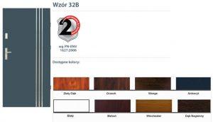 WIKĘD Drzwi zewnętrzne stalowe wzór - 32B