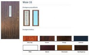 WIKĘD Drzwi zewnętrzne stalowe wzór - 33