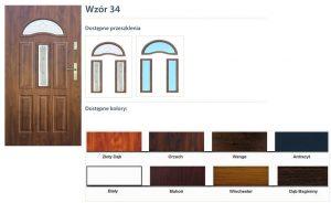 WIKĘD Drzwi zewnętrzne stalowe wzór - 34