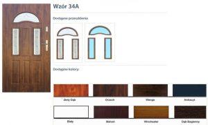 WIKĘD Drzwi zewnętrzne stalowe wzór - 34A