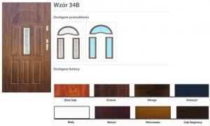 WIKĘD Drzwi zewnętrzne stalowe wzór - 34B