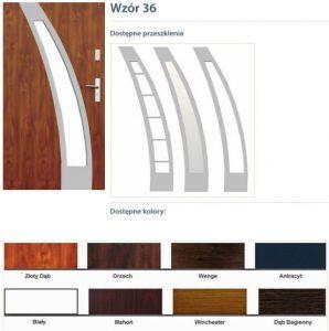 WIKĘD Drzwi zewnętrzne stalowe wzór - 36