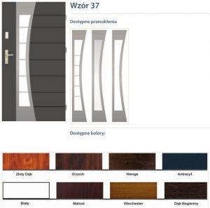 WIKĘD Drzwi zewnętrzne stalowe wzór - 37