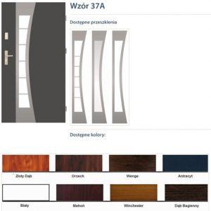 WIKĘD Drzwi zewnętrzne stalowe wzór - 37A