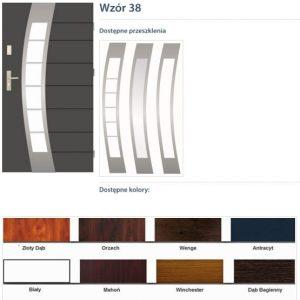 WIKĘD Drzwi zewnętrzne stalowe wzór - 38