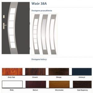 WIKĘD Drzwi zewnętrzne stalowe wzór - 38A