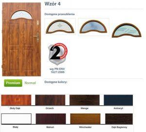 WIKĘD Drzwi zewnętrzne stalowe wzór - 4