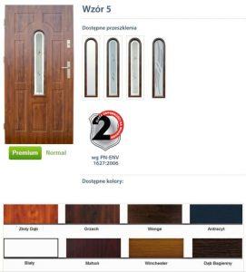 WIKĘD Drzwi zewnętrzne stalowe wzór - 5