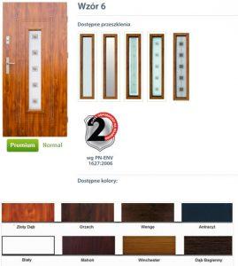 WIKĘD Drzwi zewnętrzne stalowe wzór - 6