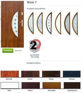 WIKĘD Drzwi zewnętrzne stalowe wzór - 7