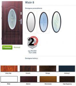 WIKĘD Drzwi zewnętrzne stalowe wzór - 8