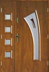 MIKEA drzwi dwuskrzydłowe z ościeżnicą drewnianą