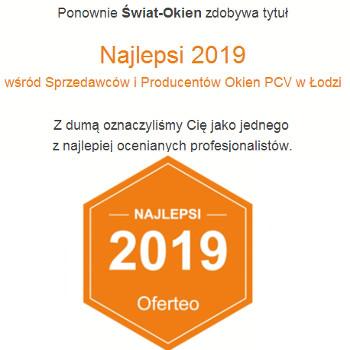 Wyróżnienie nadane przez portal Oferteo.pl